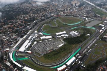 Vista dall'alto del circuito paulista di Interlagos, sede dal prossimo anno del Gran Premio di San Paolo (foto da: twitter.com)