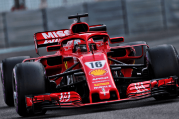 Altra immagine di Charles Leclerc al debutto da ufficiale al volante della Ferrari nei test Pirelli di Abu Dhabi (foto da: twitter.com)