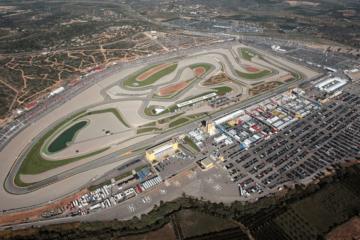 Vista aerea del circuito valenciano Ricardo Tormo, Cheste (foto da: twitter.com)