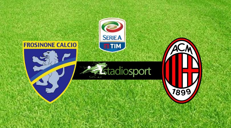 Serie A Tim Calendario E Risultati.Frosinone Milan 0 0 Video Highlights Castillejo Fermato Dal
