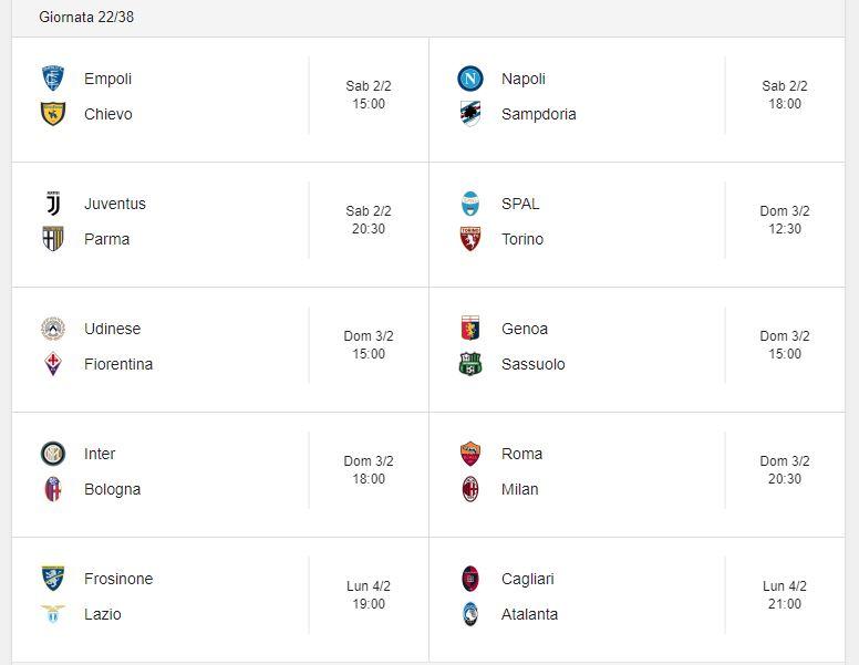 Probabili Formazioni 22 Giornata Serie A 2 3 4 2 2019 Stadiosport It