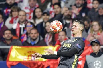 Cristiano Ronaldo in azione al Wanda Metropolitano durante la partita degli ottavi di Champions. Fonte: Twitter Juventus FC
