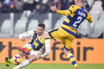 Cristiano Ronaldo realizza la prima rete al Parma nel primo tempo. Fonte: Twitter Juventus FC