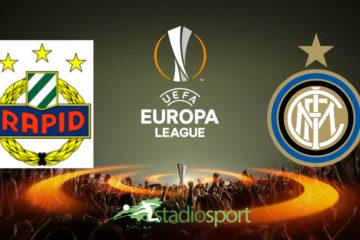 Rapid Vienna-Inter, andata sedicesimi di finale di Europa League.