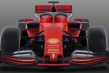 Vista frontale della nuova Ferrari SF90 (foto da: twitter.com)