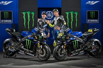 A Jakarta, la Yamaha ha svelato la M1 2019, che presenta una livrea diversa, causa nuovo main sponsor (foto da: youtube.com)