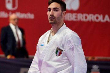 Angelo Crescenzo on tatami during Euro Karate 2019