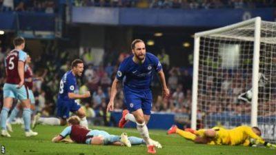 I Blues pareggiano 2-2 contro il Burnely grazie anche ad un gol del Pipita