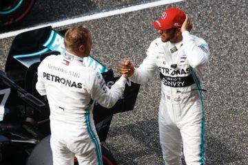 Hamilton fa i complimenti a Bottas per il giro veloce di stamattina. Fonte: Twitter Hamilton
