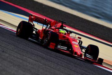 Mick Schumacher al volante della SF90 in Bahrain, durante una serie di test. Fonte: Twitter Mick Schumacher