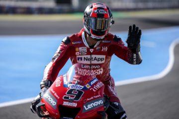 Petrucci sulla Ducati nelle prove di Jerez // foto: motogp.com