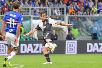 Dybala in azione a Marassi nel match di ieri. Fonte: Twitter Juventus FC