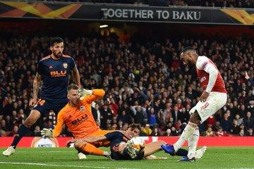 Un'occasione lampante di Lacazette nel secondo tempo che avrebbe portato i Gunners sul 3-1 prima del finale. Fonte: Arsenal Twitter