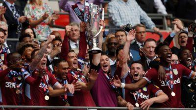 L'Aston Villa batte il Derby County e lascia la Championship per tornare in Premier League dopo 3 anni