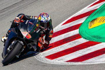 jack miller sulla Ducato Panigale V4R di Bautista