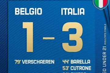 Belgio-Italia, le pagelle dell'incontro.  Fonte: Twitter Nazionale Italiana