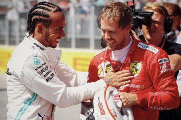 Hamilton fa i complimenti a Vettel per la pole position e dà appuntamento alla gara. Fonte: Twitter Hamilton