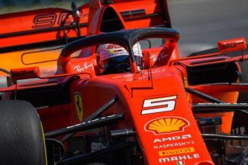 Un primo piano della vettura di Vettel durante le prove libere del Gp del Canada.  Fonte: Twitter Vettel