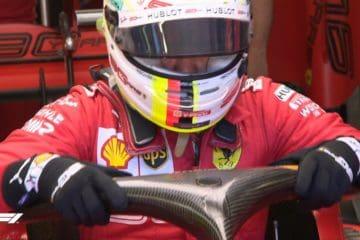 Vettel esce dall'abitacolo dopo aver effettuato le qualifiche in Austria.  Fonte: Twitter F1