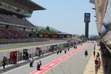 E' tutto pronto al Montmelò, Barcellona, per l'edizione 2020 del Gran Premio di Catalunya (foto da: twitter.com/Circuitcat_eng)