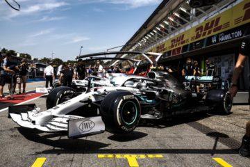 Bottas mentre esce dal circuito di Hockenheim per una prova.  Fonte: Twitter Bottas