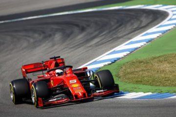 Vettel in prova sul circuito di Hockenheim in Germania.  fonte: Twitter Vettel