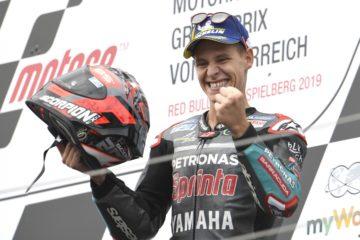 Molto contento Fabio Quartararo, che al Red Bull Ring conquista il terzo podio stagionale (foto da: twitter.com)