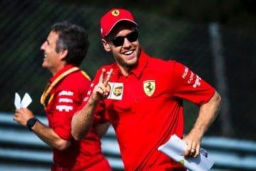 Vettel si mantiene in forma per la prova del Belgio.  Fonte: Twitter Vettel
