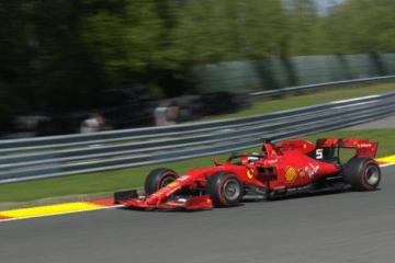 E' di Sebastian Vettel il miglior tempo nella prima sessione di libere in quel di Spa-Francorchamps (foto da: twitter.com/F1)