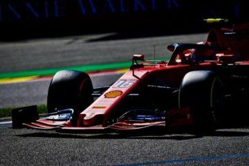 Leclerc  ripreso mentre effettua un giro veloce in Belgio.  Fonte: Twitter Leclerc