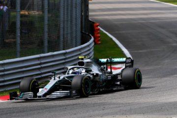 Bottas durante il giro veloce sul circuito di Monza.  Fonte: Twitter Bottas