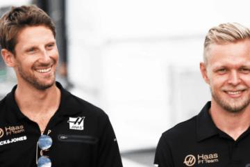 Anche nel 2020, la Haas avrà come piloti il danese Kevin Magnussen e il francese (nato in Svizzera) Romain Grosjean (foto da: twitter.com/HaasF1Team)