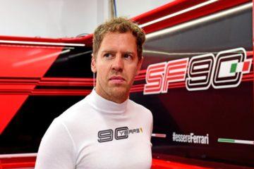 Vettel nei box del circuito di Singapore.  Fonte: Twitter Vettel
