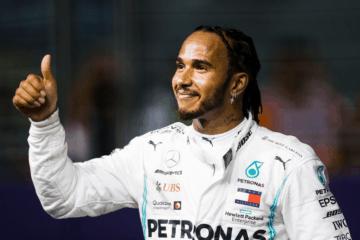 Lewis Hamilton, leader del Mondiale, ha ottenuto la 2° posizione nelle Qualifiche di Singapore (foto da: twitter.com/MercedesAMGF1)
