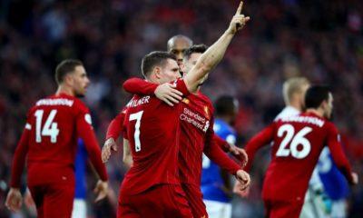 Liverpool-Everton 5-2: Reds sempre più primi