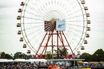 Un'immagine della ruota panoramica a Suzuka in Giappone.  Fonte: Twitter Leclerc