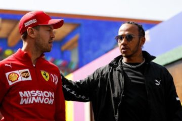 Vettel in compagnia di Hamilton in Messico.  Fonte: Twitter Vettel