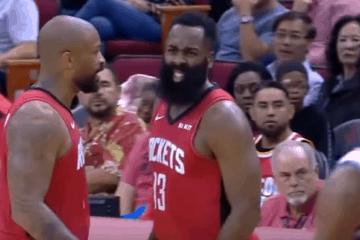 Con una prestazione da 40 punti e 7 assist, James Harden ha trascinato i suoi Rockets alla vittoria sui Thunder (foto da: youtube.com)