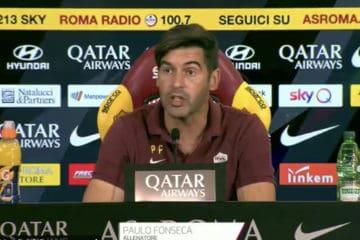 Paulo Fonseca, allenatore della Roma, in conferenza stampa pre Udinese-Roma