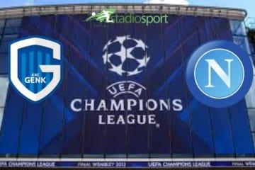 Genk-Napoli, 2° giornata di Champions League