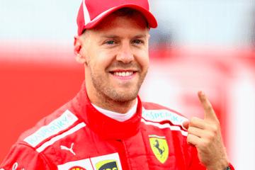Vettel arriva felice ad Abu Dhabi, dopo la nascita del terzo figlio.  Fonte: Twitter ESPN