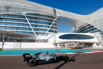 Miglior tempo di Valtteri Bottas nella prima sessione di prove libere del Gran Premio di Abu Dhabi 2019 (foto da: twitter.com/MercedesAMGF1)