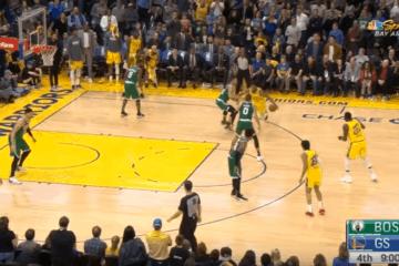 Vincendo stanotte sul campo di Golden State, i Celtics hanno ottenuto la 10° W consecutiva, confermandosi in vetta alla Eastern Conference (foto da: youtube.com)