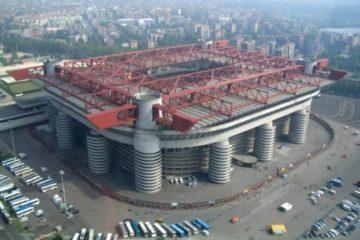 """Panoramica dall'alto di San Siro, foto profilo di una pagina """"Facebook"""" dedicata all'impianto milanese"""
