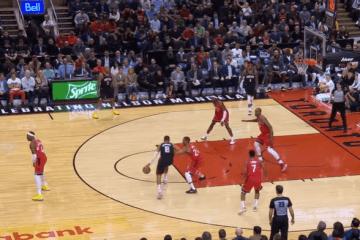 Importante vittoria degli Houston Rockets, che nella notte hanno espugnato il campo dei Toronto Raptors campioni in carica (foto da: youtube.com)