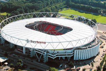 Panoramica della BayArena, foto pubblica