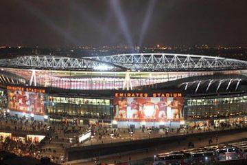 Foto esterna dell'Emirates, foto profilo della pagina
