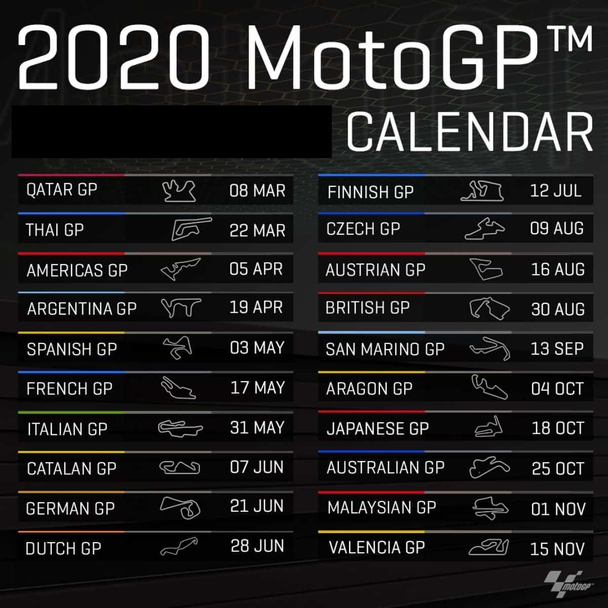 Calendario MotoGP 2020: Date Gran Premi Diretta TV Sky e TV8
