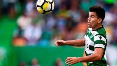 Marcos Acuna dello Sporting Lisbona vicino al Napoli