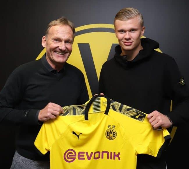Erling Haaland annuncia il suo trasferimento al Borussia Dortmund.  Fonte: Twitter